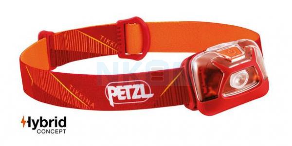 Petzl Tikkina Rood Hoofdlamp - 250 Lumen