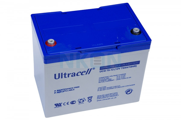 Ultracell Deep Cycle Gel 12V 75Ah Loodaccu
