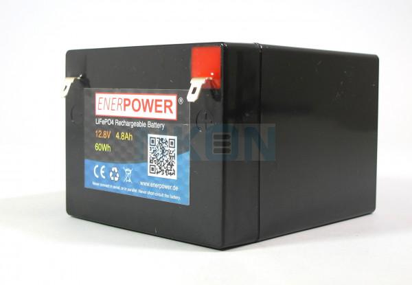 Enerpower 12.8V 4.5Ah - LiFePo4 (vervanging van loodaccu)