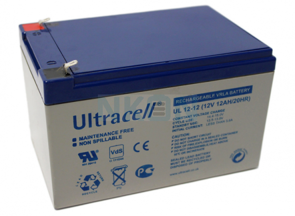 Ultracell 12V 12Ah Loodaccu