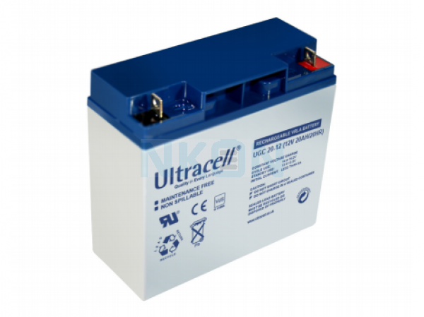 Ultracell Deep Cycle Gel 12V 20Ah Loodaccu