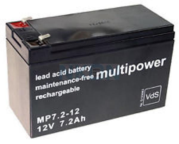 Multipower 12V 7.2Ah Loodaccu
