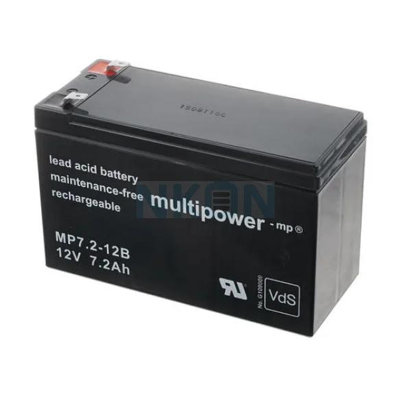 Multipower 12V 7.2Ah Loodaccu (6.3mm)