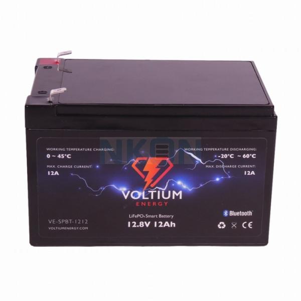 Voltium Energy 12.8V 12Ah - LiFePo4 (vervanging van loodaccu)