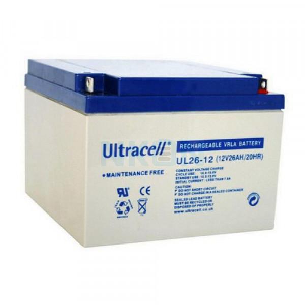 Ultracell 12V 26Ah Loodaccu
