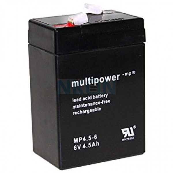 Multipower 6V 4.5Ah Loodaccu