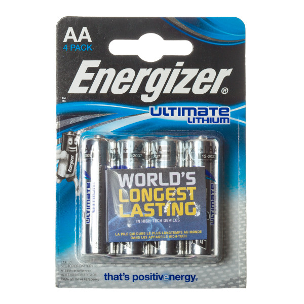 4x AA Energizer Ultimate Lithium L91 - 1.5V