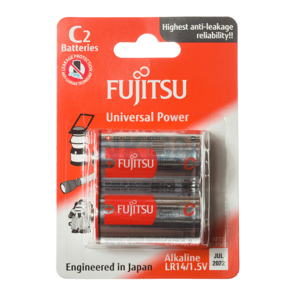 2x C Fujitsu Alkaline - 1.5V