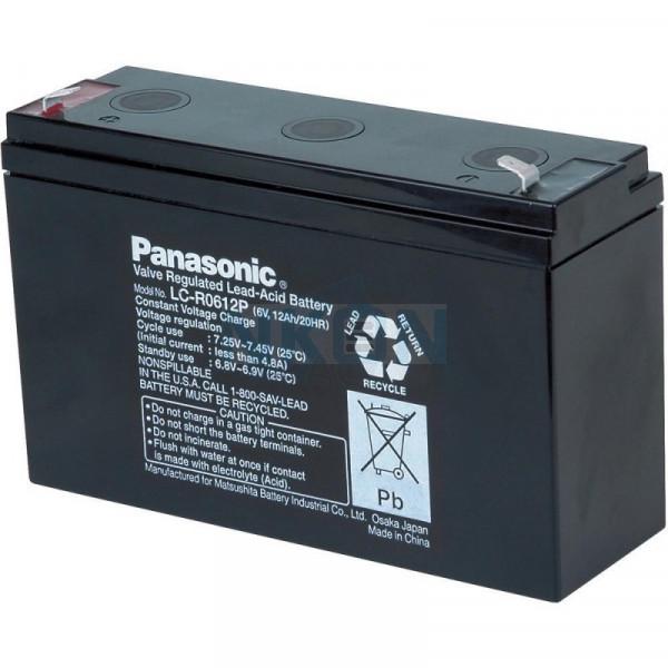 Panasonic 6V 12Ah Loodaccu (6.3mm)