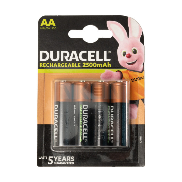 4 AA Duracell Rechargeable - 2500mAh
