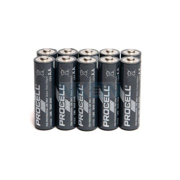 10x AA Duracell Procell / Industrial - 1.5V