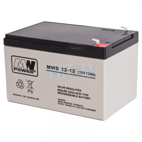 MWPower 12V 12Ah Loodaccu (6.3mm)