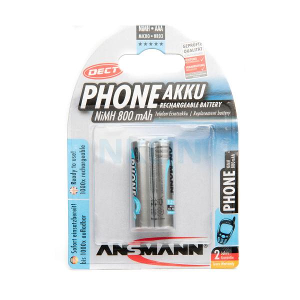 2 AAA Ansmann Phone accu - 800mAh