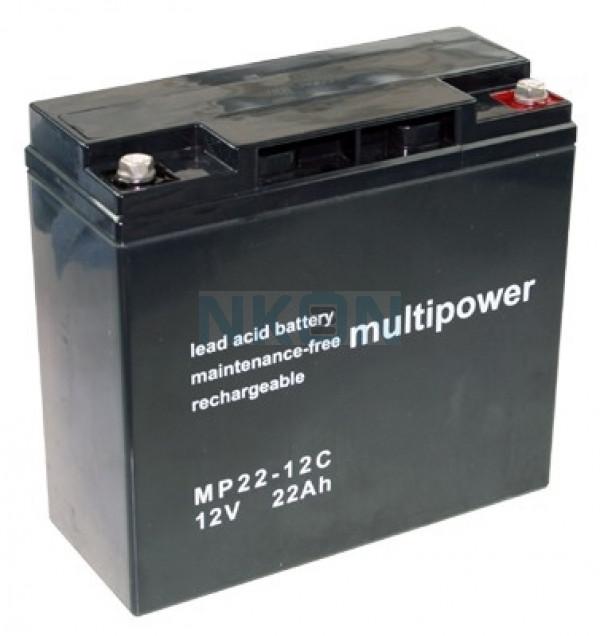 Multipower Deep Cycle 12v 22Ah Loodaccu