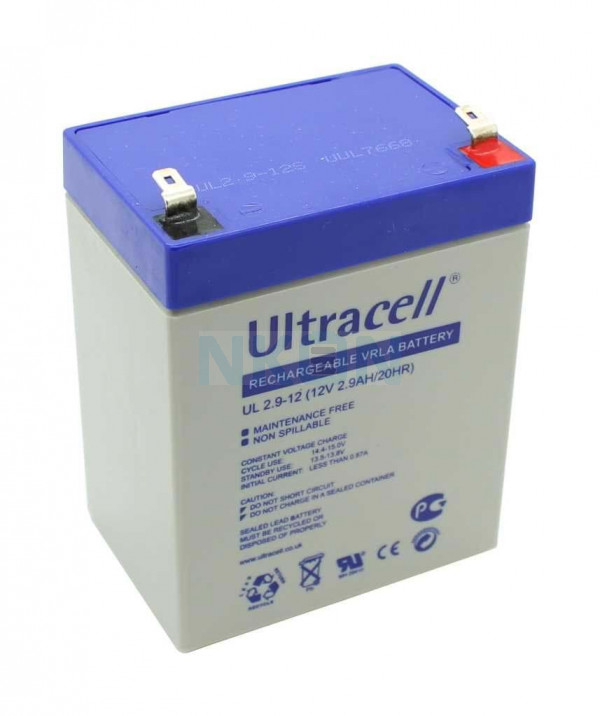Ultracell 12V 2.9Ah Loodaccu