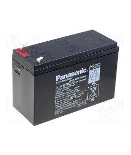 Panasonic 12V 7.2Ah Loodaccu (6.3mm)