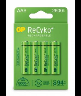 4 AA GP Recyko - 2600mAh