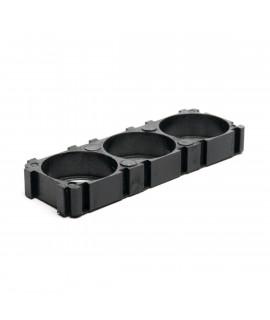 3x18650 Battery Spacer holder PAST NIET OP 27MM NIKKELSTRIP