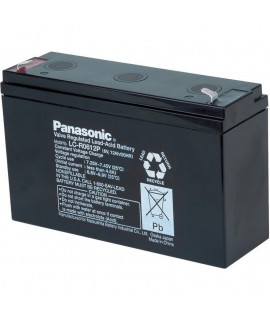 Panasonic 6V 12Ah Loodaccu (6.3mm)