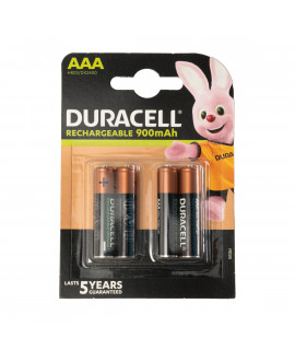 4 AAA Duracell Rechargeable - 900mAh