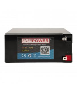 Enerpower 12.8V 8Ah - LiFePo4 (vervanging van loodaccu)