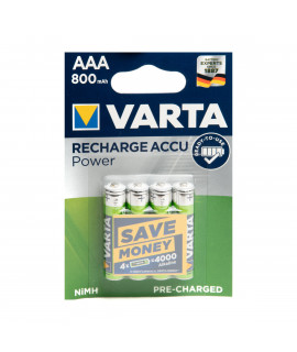 4 AAA Varta Recharge Accu Power - 800mAh