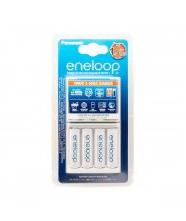 Panasonic Eneloop BQ-CC55 batterijlader + 4 AA Eneloop (1900 mAh)