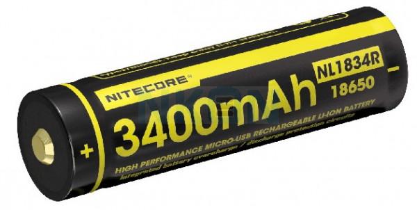 Nitecore 18650 NL1834R USB 3400mAh (protected) - 2A