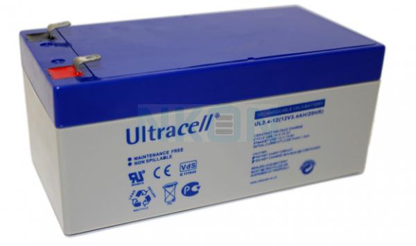 Ultracell 12V 3.4Ah Bateria chumbo-ácido