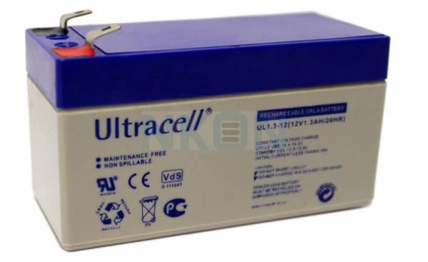 Ultracell 12V 1.3Ah Bateria chumbo-ácido
