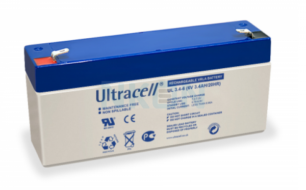 Ultracell 6V 3.4Ah Bateria chumbo-ácido
