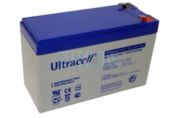 Ultracell 12V 7Ah Bateria acidificada ao chumbo