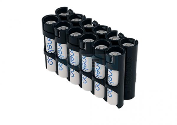 Suporte para 12 pilhas AAA Powerpax - Magnético