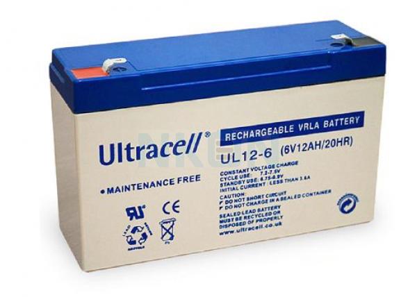 Ultracell 6V 12Ah Bateria chumbo-ácido