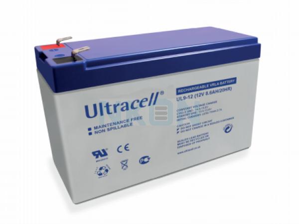 Ultracell 12V 9Ah Bateria chumbo-ácido