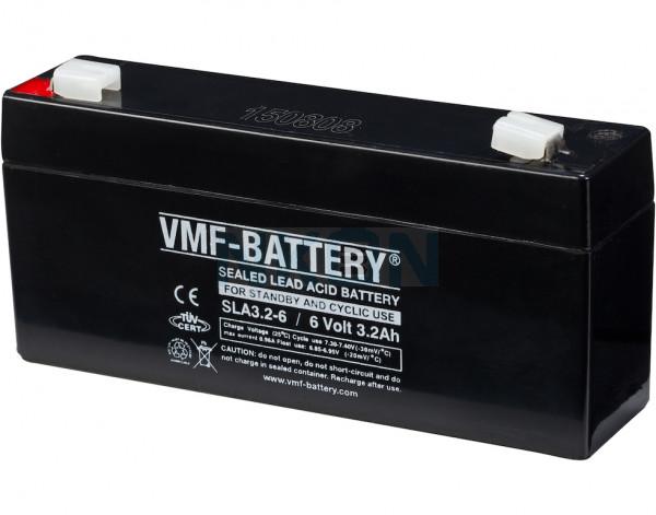 VMF 6V 3.2Ah Bateria chumbo-ácido
