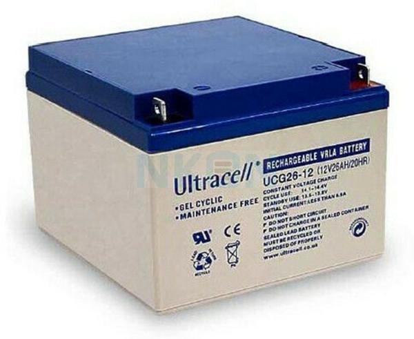 Ultracell Deep Cycle Gel 12V 26Ah Bateria chumbo-ácido