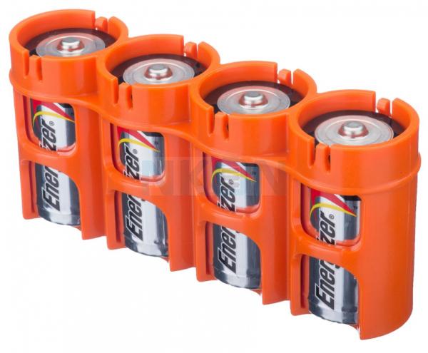 Caixa para 4 pilhas C da Powerpax