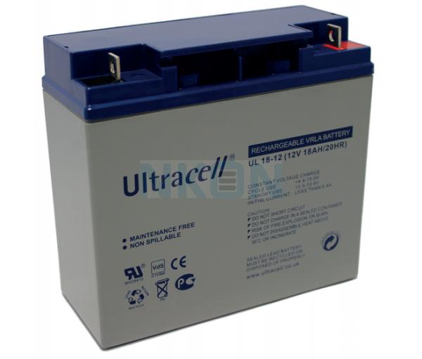 Ultracell 12V 18Ah Bateria chumbo-ácido