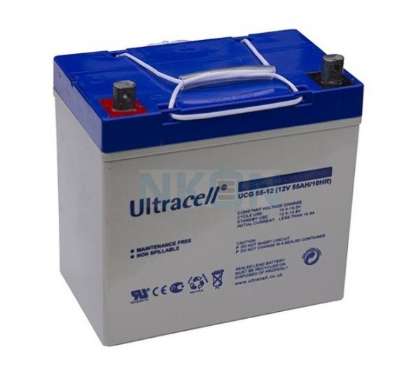 Ultracell Deep Cycle Gel 12V 55Ah Bateria chumbo-ácido