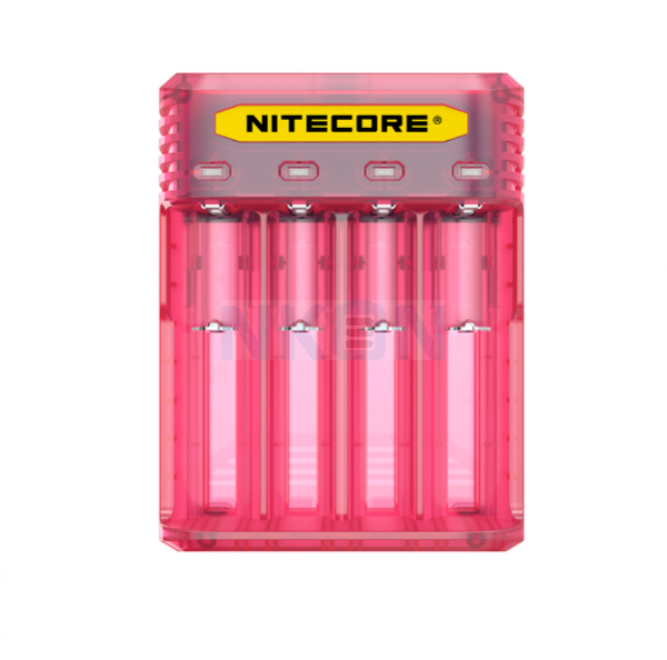 Nitecore Q4 carregador de bateria - Pinky Peach