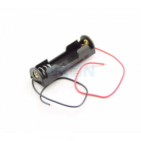1x suporte para pilhas AA com fios soltos