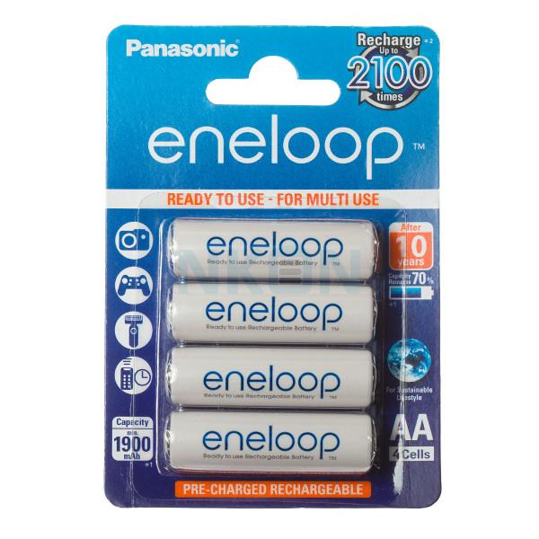 4 AA Eneloop - Embalagem padrão varejo - 1900mAh