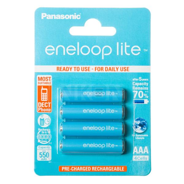 4 AAA Eneloop Lite - Embalagem padrão varejo - 550mAh