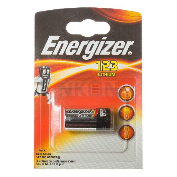 Energizer CR123A - Embalagem padrão varejo