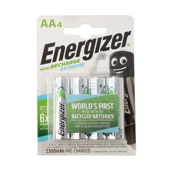4 AA Energizer Recharge Extreme - 2300mAh