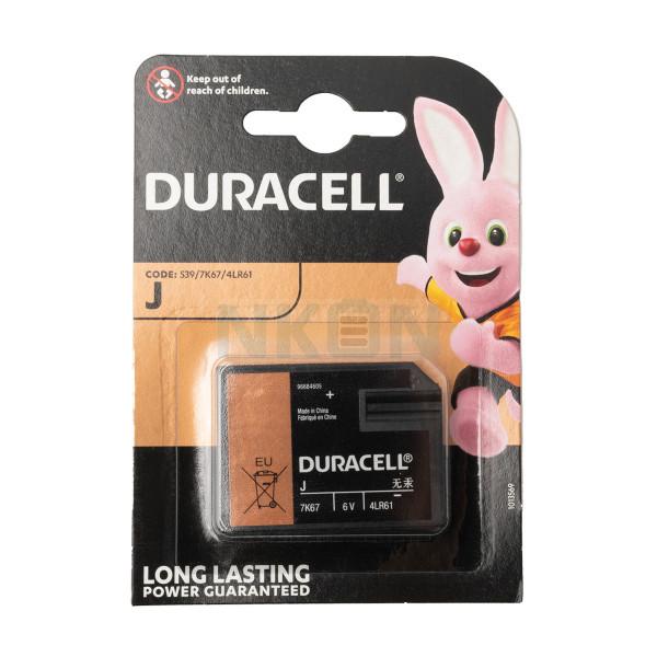 J (Duralock / 7K67 / 539 / 4LR61) Duracell - 6V