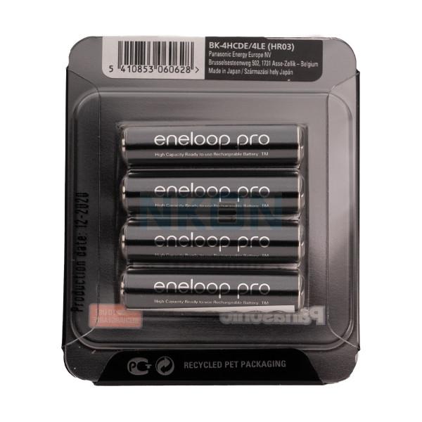 4 AAA Eneloop Pro - Embalagem deslizante - 930mAh