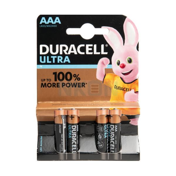 4 AAA Duracell Ultra - 1.5V