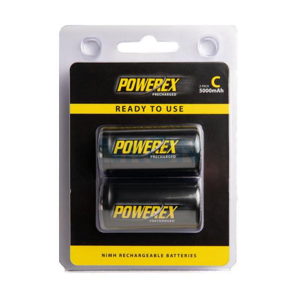 2 C Maha Powerex Pré-carregado - Embalagem padrão varejo - 5000mAh